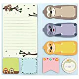 Sloth Sticky Notes Set Sticky Notepads 240 Sheets Book Notes for Sloth Lovers Kids Office School Friends Gifts Lazy Day Small Gifts