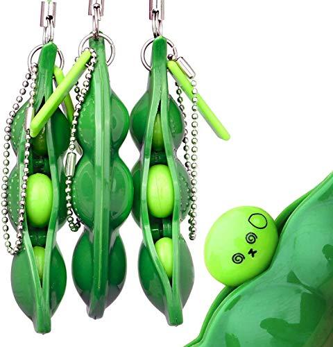 Squeeze Beans llavero soja alivio del estrés y reduce la ansiedad cadena del...