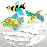 Baker Ross Planeurs insectes à colorier (Paquet de 10) - Loisirs créatifs pour enfants et adultes AT663