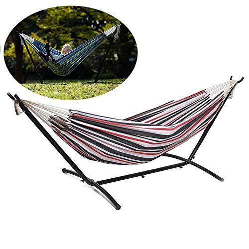 Hammock with Bracket Mosquito Net Hammock,Steel Metal Frame Freestanding,Removablefold,Wild Camping Indoor And Outdoor,Natural