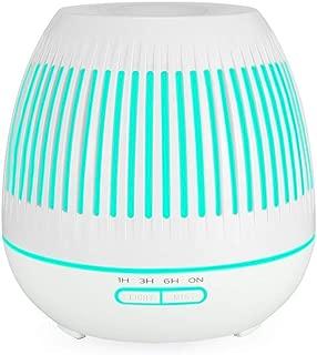 PBQWER Essential Oil Diffuser, 400Ml Humidifier Hollow Luminous Humidifier Wood Grain Mini Humidifier Air Purifier,C