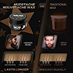 Bossman MUDstache Wax Unscented Mustache Wax - Mustach Grooming Care - Strong Hold for Taming, Training and Styling (1oz… 3