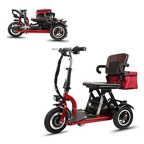 Mr Car Elektromobil Motorroller Klapp Tragbares Elektroauto Dreirädriger älterer/behinderter Outdoor Freizeitmobil Roller
