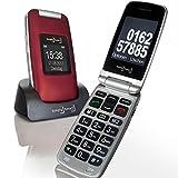 Großtasten Mobiltelefon, Seniorenhandy MB 100 Bordeaux