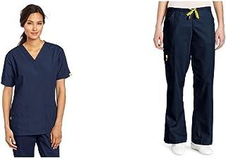 de187456935fb WonderWink Women s Plus Size Scrubs Bravo 5-Pocket V-Neck Top