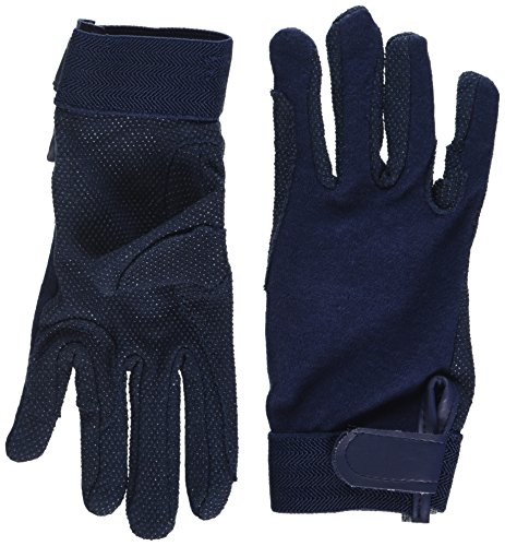 Pfiff 011318 Unisex Handschuhe Baumwolle , Reithandschuhe, blau (Blau), S
