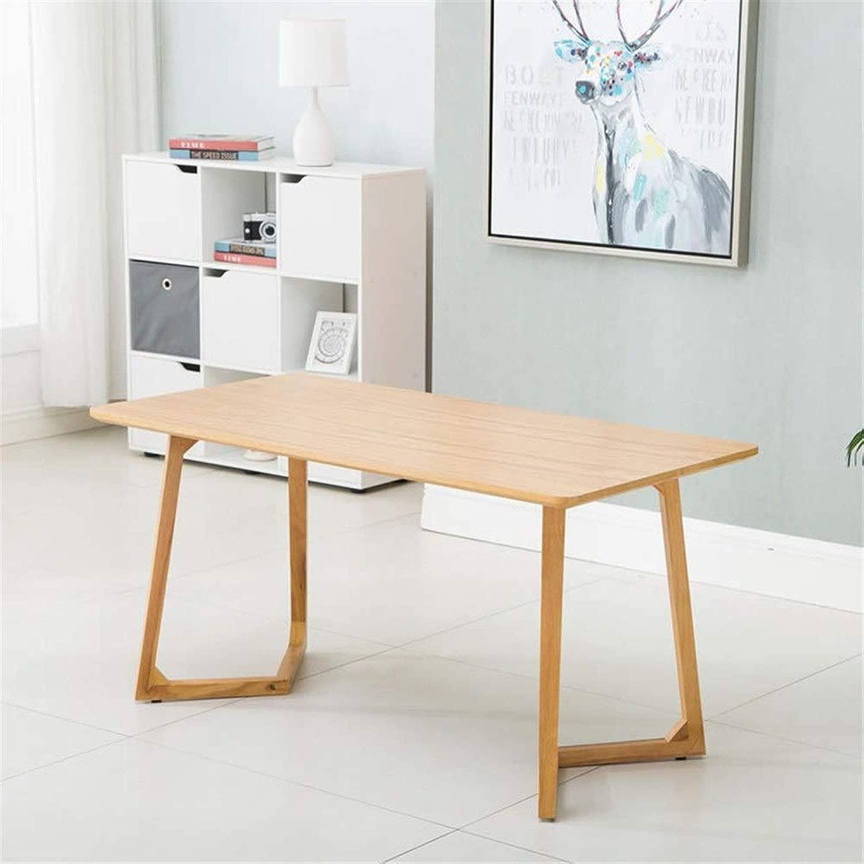 北欧モダンミニマリスト長方形のリビングルームレストラン茶コーヒーショップ小さなアパートミニマリストカジュアルダイニングテーブル (色 : Wood color, サイズ : 120X60X70CM)