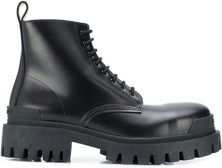 Stivaletti uomo in pelle nera - balenciaga luxury fashion 589338wa9601000  | ss21 B0814FGKHM