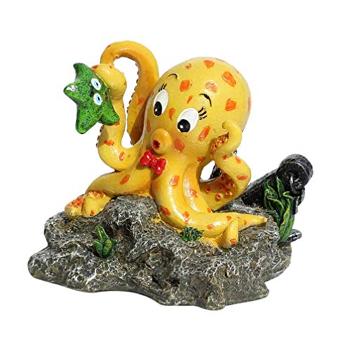 Gpzj Octopus Aquarium Dekor Harz Tierlandschaft Ornament Aquarium Dekoration