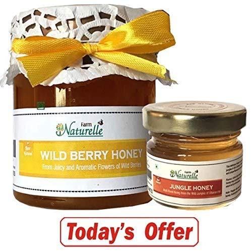 Wild Berry Sidr Honey - 100% Pure Raw Natural Unprocessed 250 GR (8.81 OZ) With Another Flower Honey - 40 GR (1.41 OZ)