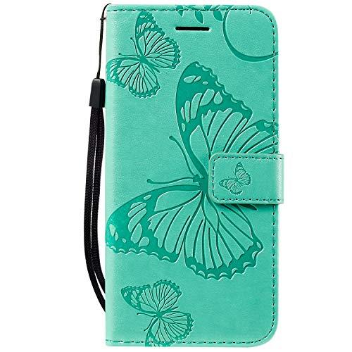 Hülle für iPhone 11 Pro Hülle Handyhülle [Standfunktion] [Kartenfach] [Magnetverschluss] Tasche Etui Schutzhülle lederhülle klapphülle für Apple iPhone 11 Pro 2019 - JEKT040056 Grün