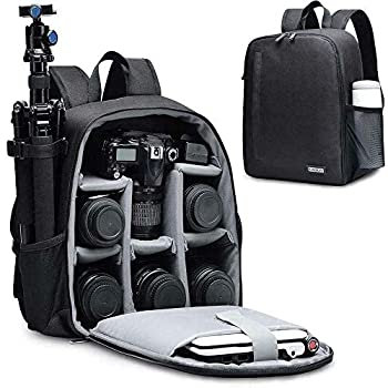 CADeN DSLR SLR Camera Backpack Bag for Mirrorless Cameras/Photographers Camera Case Water-Repellent Compatible with Nikon Canon Sony Lens Tripod Accessories Photography Men Women  Black Small