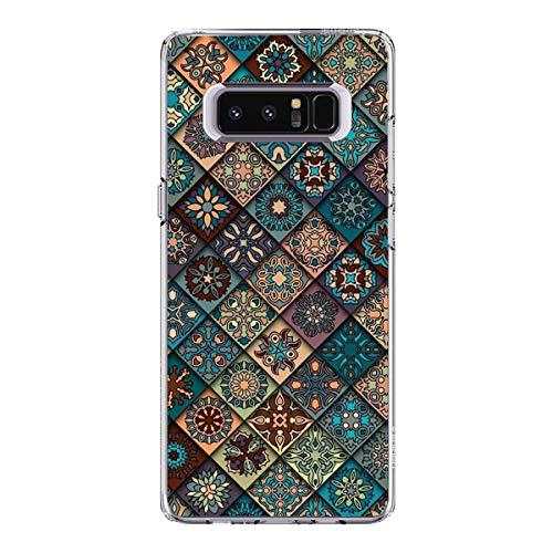 18eay Compatible para Samsung Galaxy Note 8 Carcasa Transparente Silicona antigolpes Funda Blanda Ultra Fina Protectora Carcasa antiarañazos TPU Gel Bumper Case para Galaxy Note 8 D Talla única