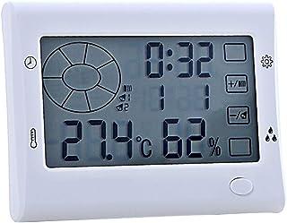 YIN YIN, higrómetro Temperatura, Pantalla Grande termómetro Digital higrómetro seco con Pantalla táctil Luminoso, 118X87X4...