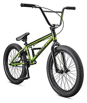 Mongoose Legion L20 Freestyle BMX Bike, 20-Inch Wheels, Green, One Size