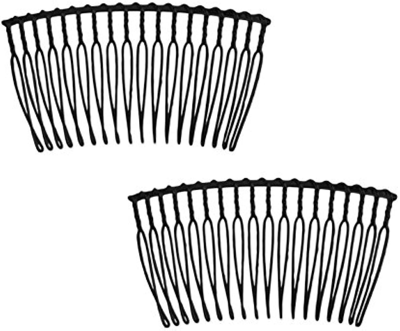 Jasmine Hair Comb 10 pieces size W6.5 × H3.5cm black H15B