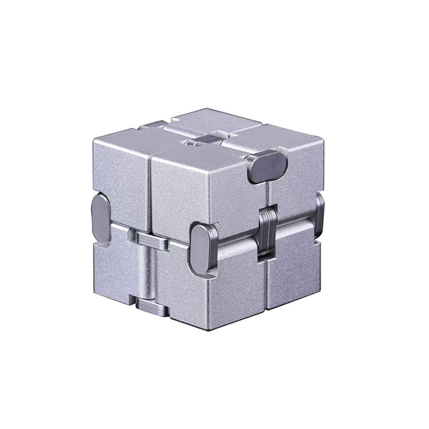 汚れた宿泊普遍的なルービックキューブ、高品質テクスチャードルービックキューブ、滑らかで解凍可能、ギフトとして使用可能(ブラック/シルバー/ゴールド) (Color : Silver, Edition : Second order)