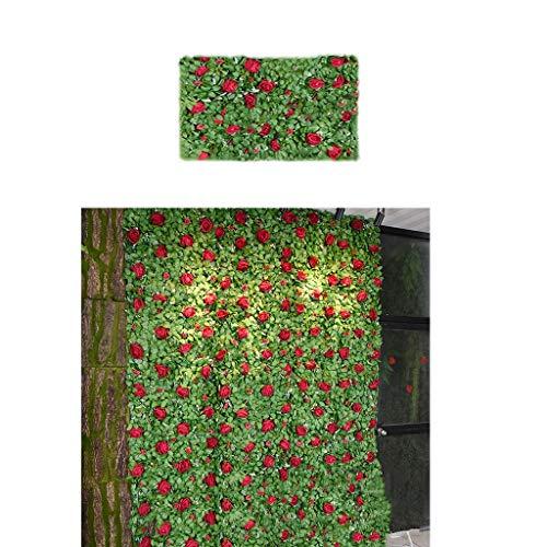 SUNNAIYUAN Künstliche Blume Wall Screen Panel Romantische Blumen Hintergrund 60x40cm Spalier Privatsphäre Hecke Hintergrund Dekor (Size : 1pack)
