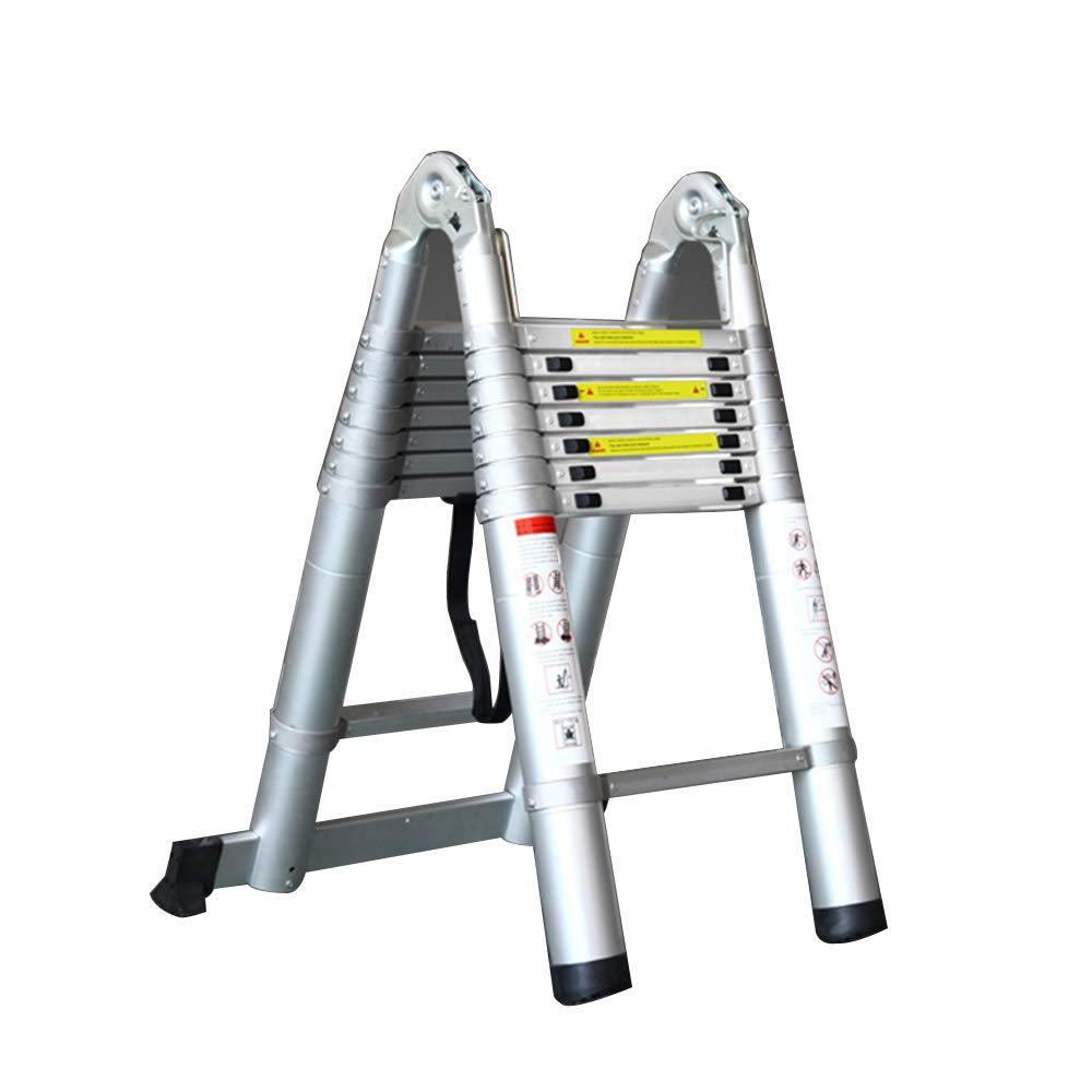 Jian E E-// Escalera doméstica actualizar Todo el Engrosamiento de Aluminio elevar Escalera Multifuncional Escalera de ingeniería, Carga 150 kg, se Puede Extender de 160 cm a 560 cm //-: Amazon.es: Hogar
