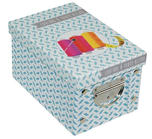 Incidence Paris 42552 Boite ADEKUAT - Couture, Carton, Bleu, 23,5x15,6x14 cm