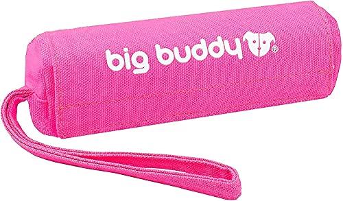 big buddy Canvas Futterdummy, Futterbeutel für Hunde, Apportierdummy zur Hundeerziehung (Pink)