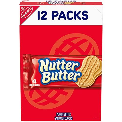 Nutter Butter Peanut Butter Sandwich Cookies, 12 Packs (4 Cookies Per Pack)