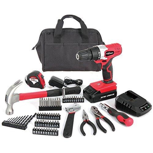 Hyper Tough AQ90044G 70-Piece 20-Volt Max Cordless Drill Project Kit