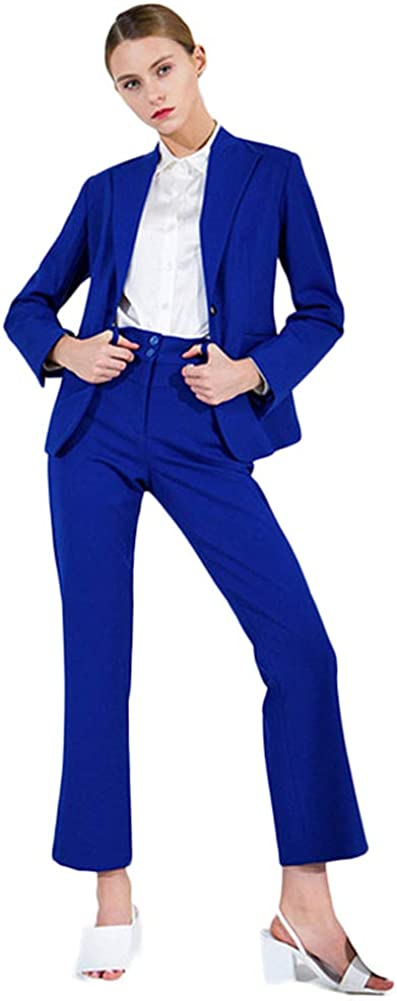 TOPG Formal Women Business Suits 2 Piece Jacket and Pant Sets Office Ladies Work Suit