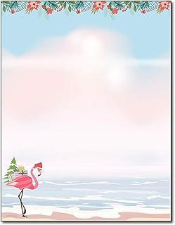 Merry Flamingo Beachy Holiday Stationery - 80 Sheets