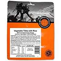 EXPEDITION FOODSexpeditionfoods.com Vegetable Tikka with Rice | Freeze-Dried Camping & Hiking Food| High Energy Serving |800kcal Meal