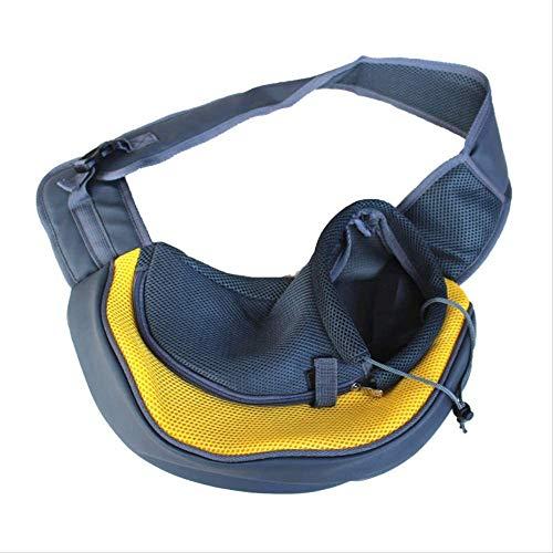 XSYL huisdier tassen, schoudertassen, hond borst rugzakken, uitgaande huisdier tassen, huisdier benodigdheden S 38 * 26 * 9 geel