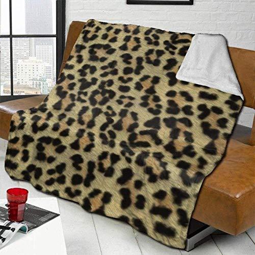 XZHYMJ - Manta de Lana para bebé, para niños, niñas, niños, Suave, cálida y acogedora, Manta para sofá, Cama, 40 x 50 Pulgadas, Pintado con Mega Leopardo