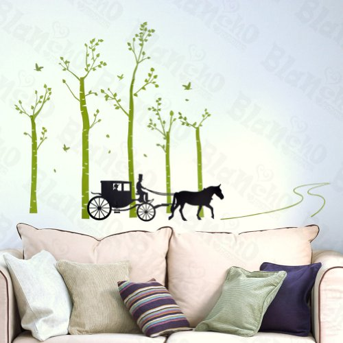 Country Road – Grand stickers muraux stickers pour Home Decor couleurs mixtes