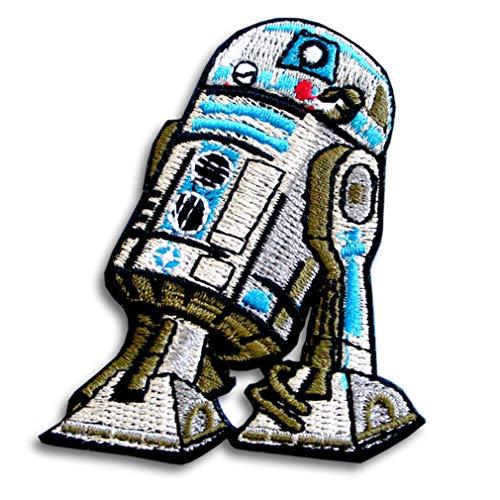 Verani Star Wars R2D2 R2-D2 Patch Embroidered Iron on Logo Boba Fett Mandalorian Crest Aemor Bounty Hunter Jedi Order Assault Stormtrooper Walker Imperial ATAT at-at Rebel Alliance Galactic Republic