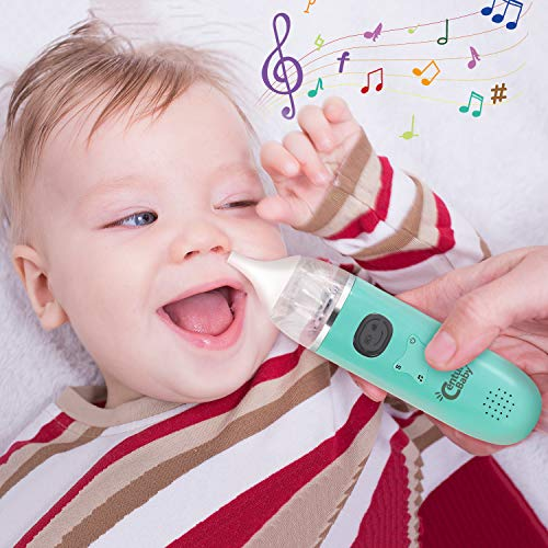 Electric Nasal Aspirator for Baby Baby Nose Sucker  Snot Sucker for Baby  Baby Nose Cleaner for Infants  Rechargeable with Music amp 3 Suction Power Adjustable