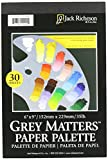 Jack Richeson Grey Matters Disposable Paper Palette, 6 x 9 in, 30 Sheets