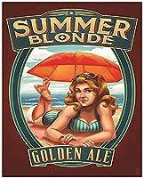Summer Blonde ブリキ 看板 輸入品 ビンテージ風 38×30cm