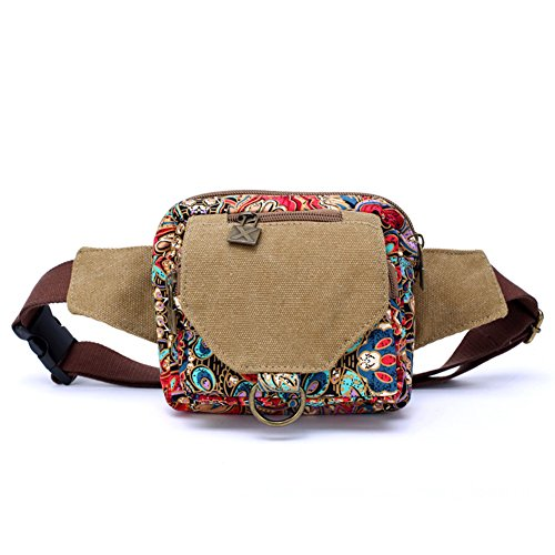 Dopobo Bolso De Cintura Women Fanny Pack Waist Bag Phoenix Printed Canvas Girls Festival Fanny Pack Sport Bumbag