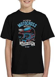 Motocross Champion Helmet Kid's T-Shirt