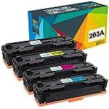 Do it wiser 203A 203X Cartuchos de Tóner Compatibles para HP CF540A Color Laserjet Pro MFP M281fdw M281fdn M281cdw M280nw M254dw M254nw M254dn (Negro, Cian, Magenta, Amarillo)