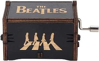 Los Beatles Caja de Música, Cajas Musicales de Madera Talladas a Mano Antiguas, Cumpleaños Christma(Tipo E)