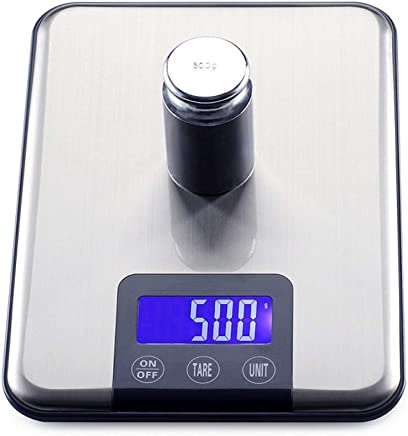 Kitchen Scales - Stainless Steel/ABS, LED Display, 6 Units Conversion, Slim Fashion Home high-Precision Food Baking Small Scales - 2 Range Optional (Size : 10kg)
