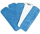 Mopa de Microfibra Cabecera de Repuesto para Trapeadora Re-Up (Seco/Mojado) compatibles con Bona Floor Care System (Paquete de 5)