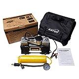 KATSU Tools 451714 Professional Large Volume Tyre Inflator Heavy Duty 12V Car Van Tire Air Compressor Pump, Multicoloured