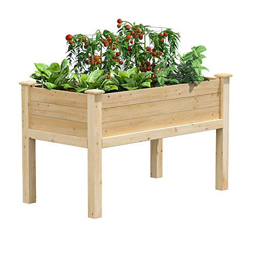 Greenes Fence RCEV2448 Fence Elevated Garden Bed, 48' L x 24' W x 31', Cedar