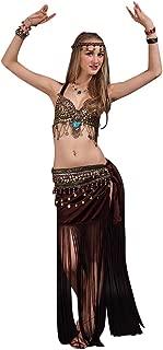 SunWanyi Damen Sexy Bauchtanz Performance Rock Anzug Tribal Oriental Arabian Belly Dance Rock AnzugReferenz Beschreibung