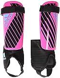 adidas Youth X Youth Shinguard, Shock Pink/Black/Bright Cyan, Small