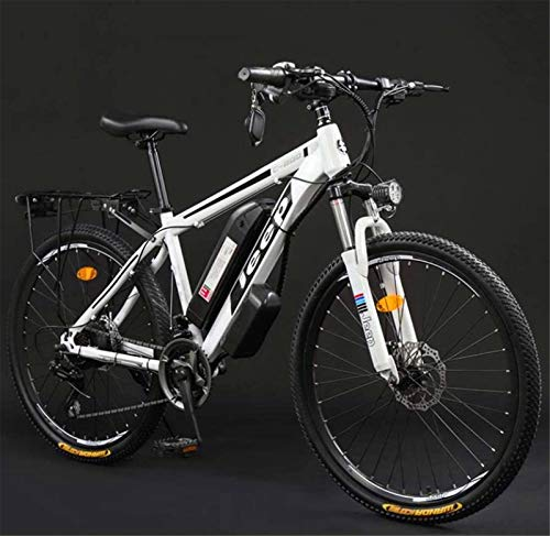 Fangfang Electric Bikes, Adult 26 Inch Electric Mountain Bike, 36V Lithium Battery High-Carbon Steel 27 Speed Electric Bicycle, With LCD Display,E-Bike (Color : B, Size : 100KM)