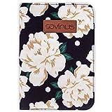 Sovinus - Funda organizadora para cartilla de embarazo, con 8 bolsillos, diseño de flores de color crema