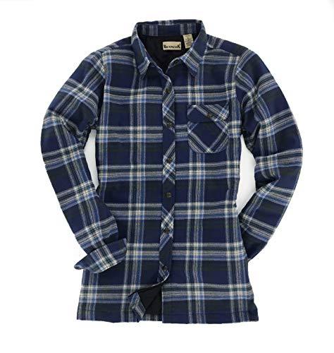 Backpacker Women's Flannel Shirt Jacket, Blue/Green, Medium
